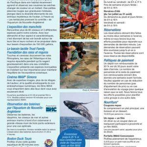 French Brochure Translation - New England Aquarium